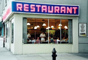 """""""Tom's Restaurant, NYC"""" by Rdikeman at the English language Wikipedia. Licensed under CC BY-SA 3.0 via Wikimedia Commons - http://commons.wikimedia.org/wiki/File:Tom%27s_Restaurant,_NYC.jpg#mediaviewer/File:Tom%27s_Restaurant,_NYC.jpg"""